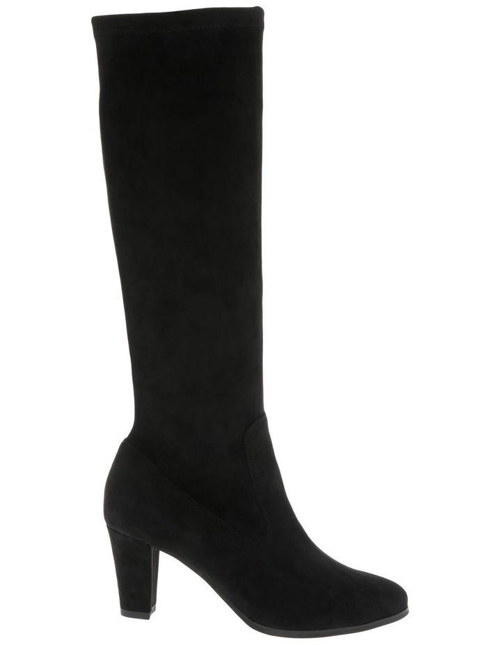 Natalia Black Stretch Micro Knee High Boot image 1