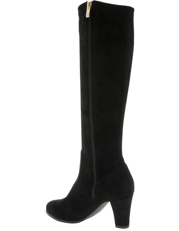 Natalia Black Stretch Micro Knee High Boot image 3
