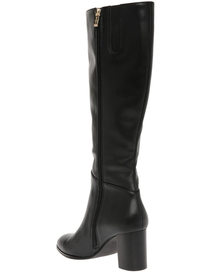 Robyn Black Cow Leather Boot image 2