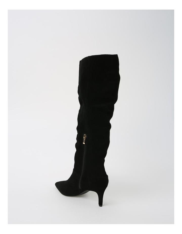 Suzette Black Heeled Knee High Boot image 3