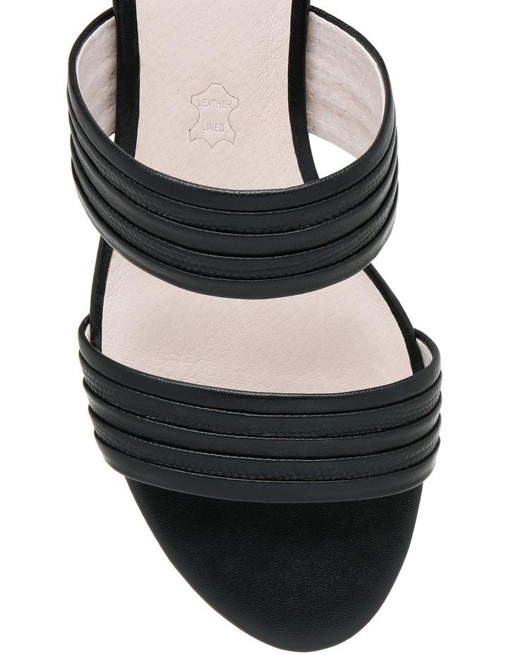 Sashay Black Leather Sandal image 3