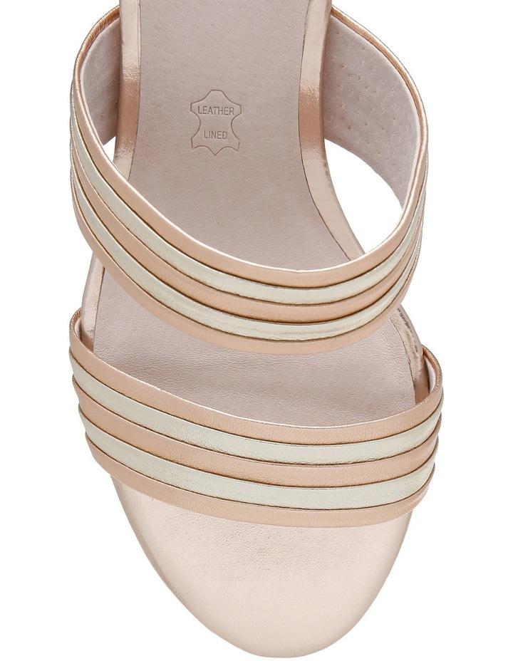 Sashay Rose Gold Leather Sandal image 3
