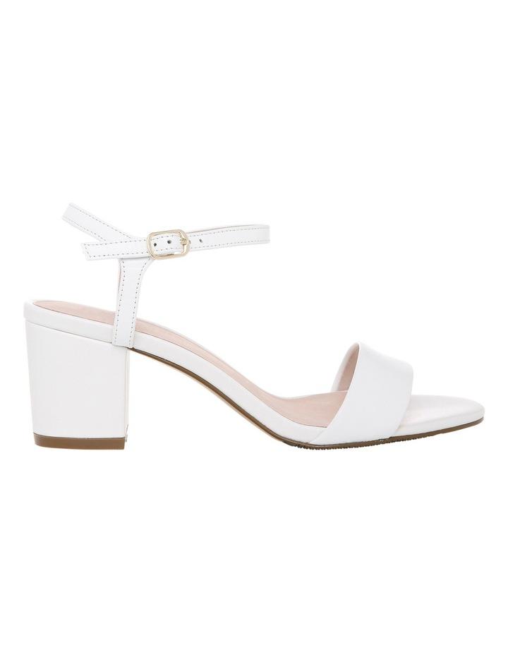 Romina White Leather Sandal image 1