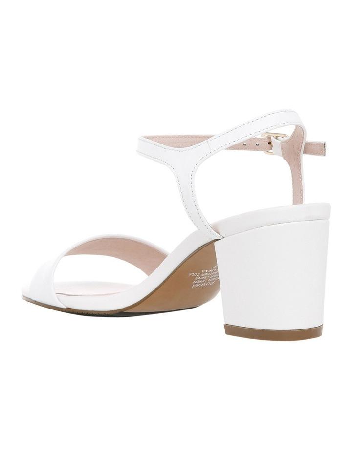Romina White Leather Sandal image 2