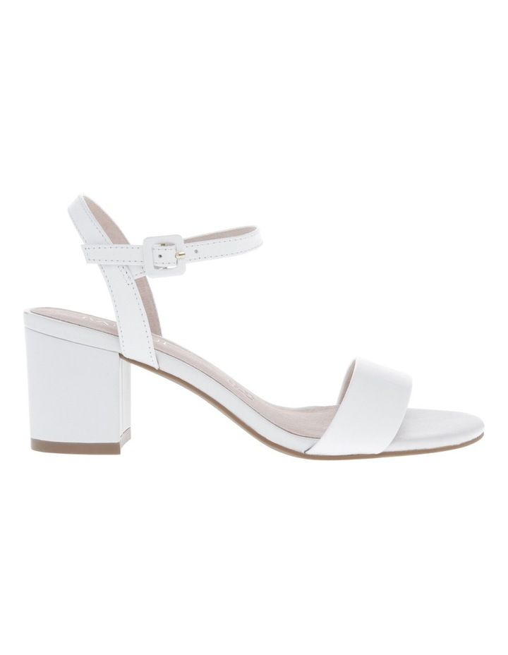 Roma White Leather Sandal image 1