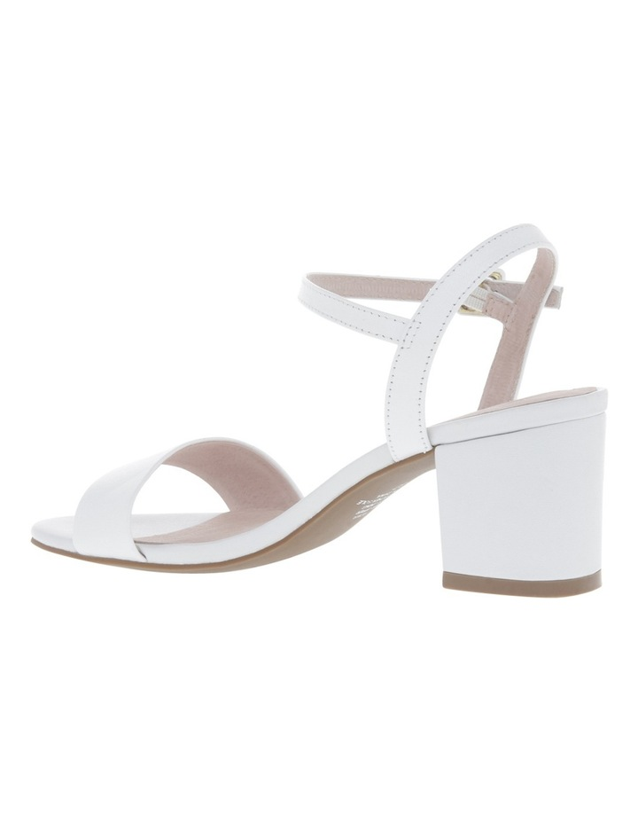 Roma White Leather Sandal image 2