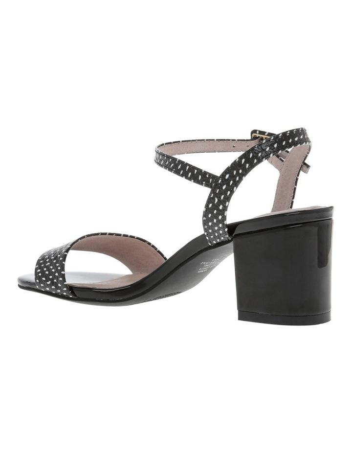 Roma Black and White Spot Leather Sandal image 2