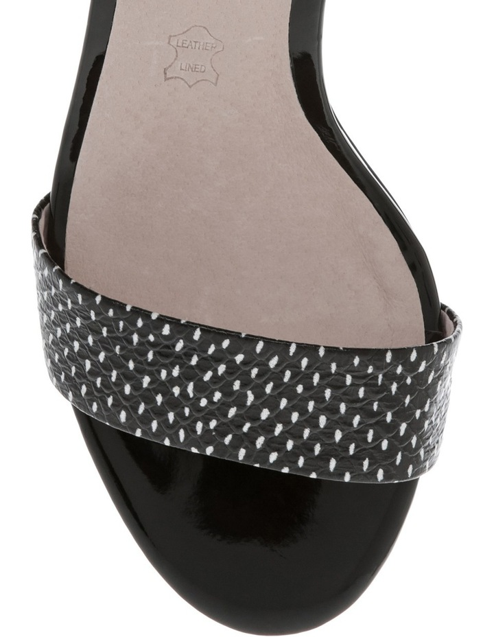 Roma Black and White Spot Leather Sandal image 3