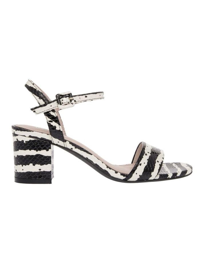 Roma Zebra Print Leather Sandal image 1