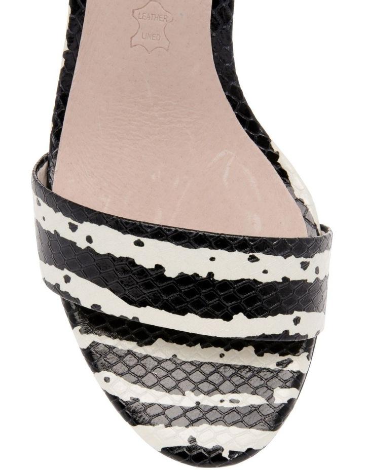 Roma Zebra Print Leather Sandal image 3