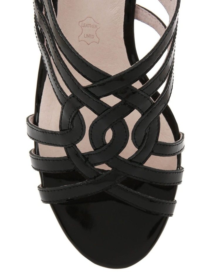 Rose Black Patent Sandal image 3