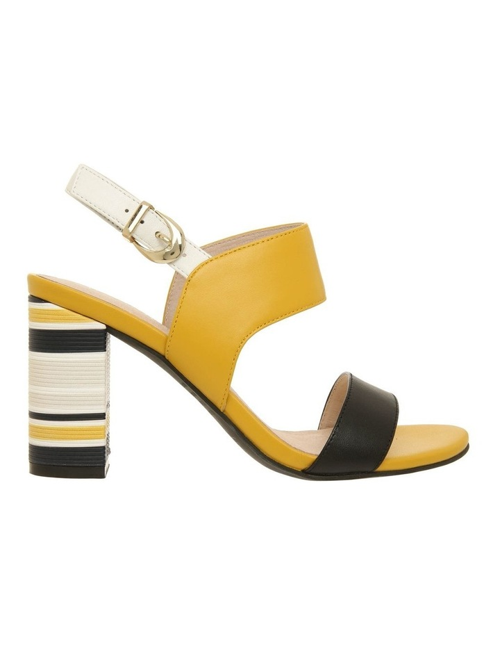 Victoria Black & Yellow Leather Sandal image 1