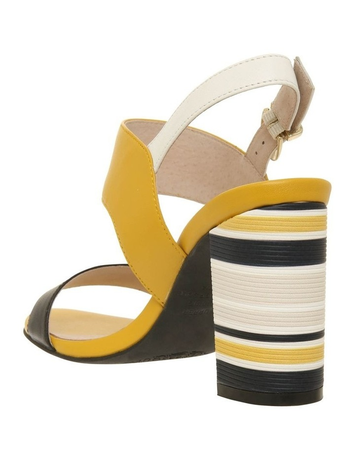 Victoria Black & Yellow Leather Sandal image 2