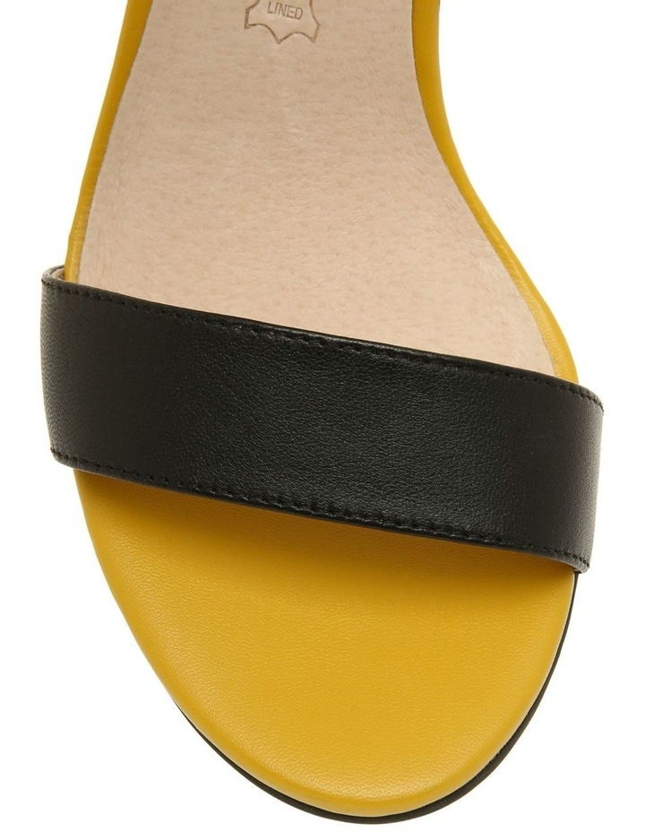 Victoria Black & Yellow Leather Sandal image 3