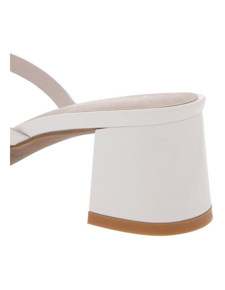 Olivia White Patent Leather Sandal image 4