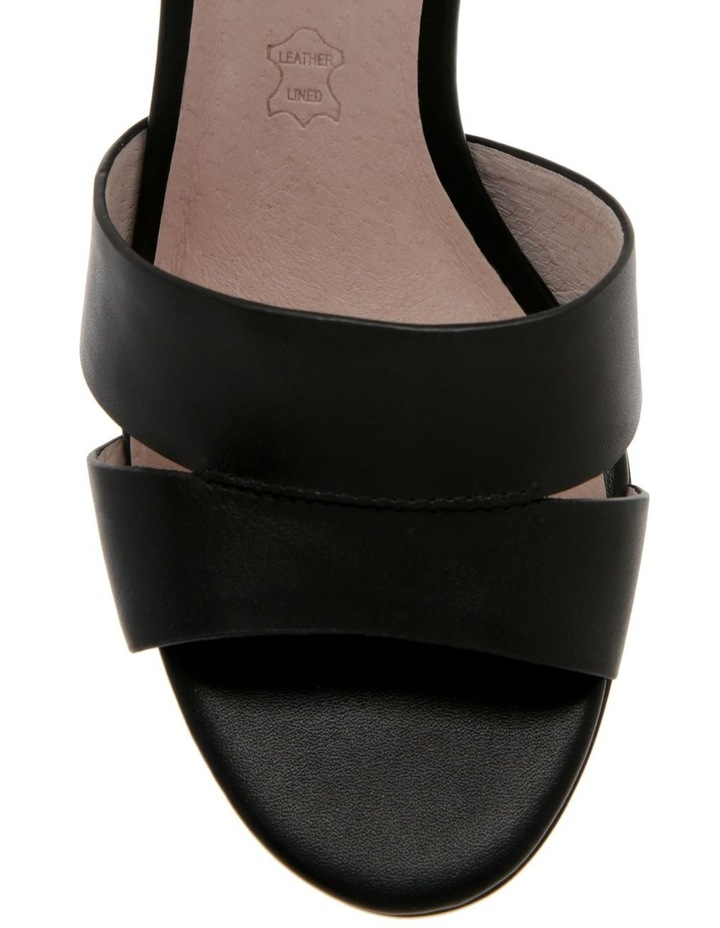Ava Black Leather Sandal image 2