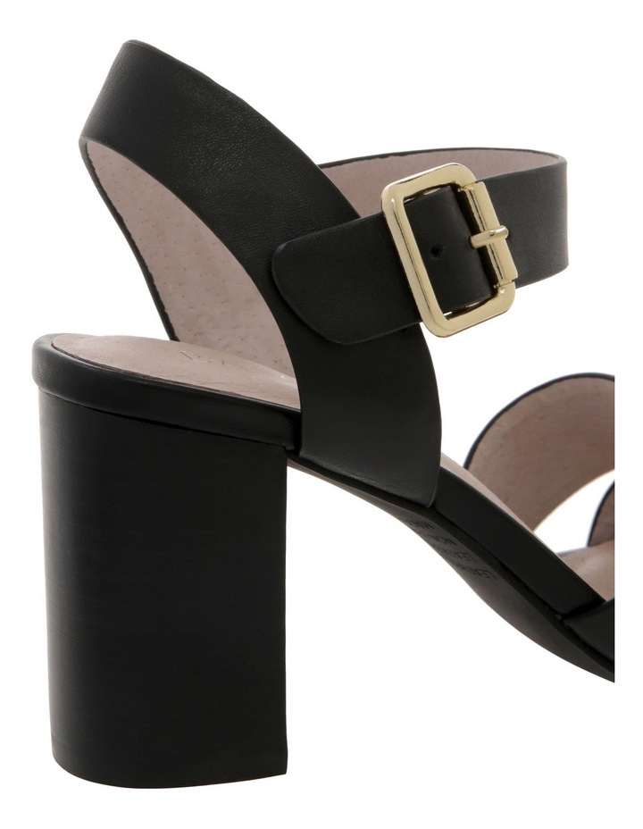 Ava Black Leather Sandal image 4