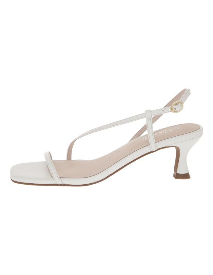 Harper White Leather Sandal image 1
