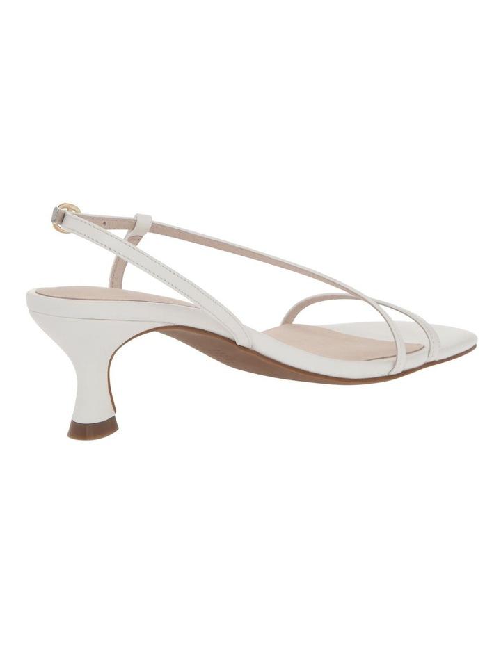 Harper White Leather Sandal image 3