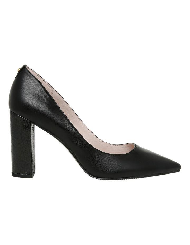 Nicolette Black Leather Heel image 1