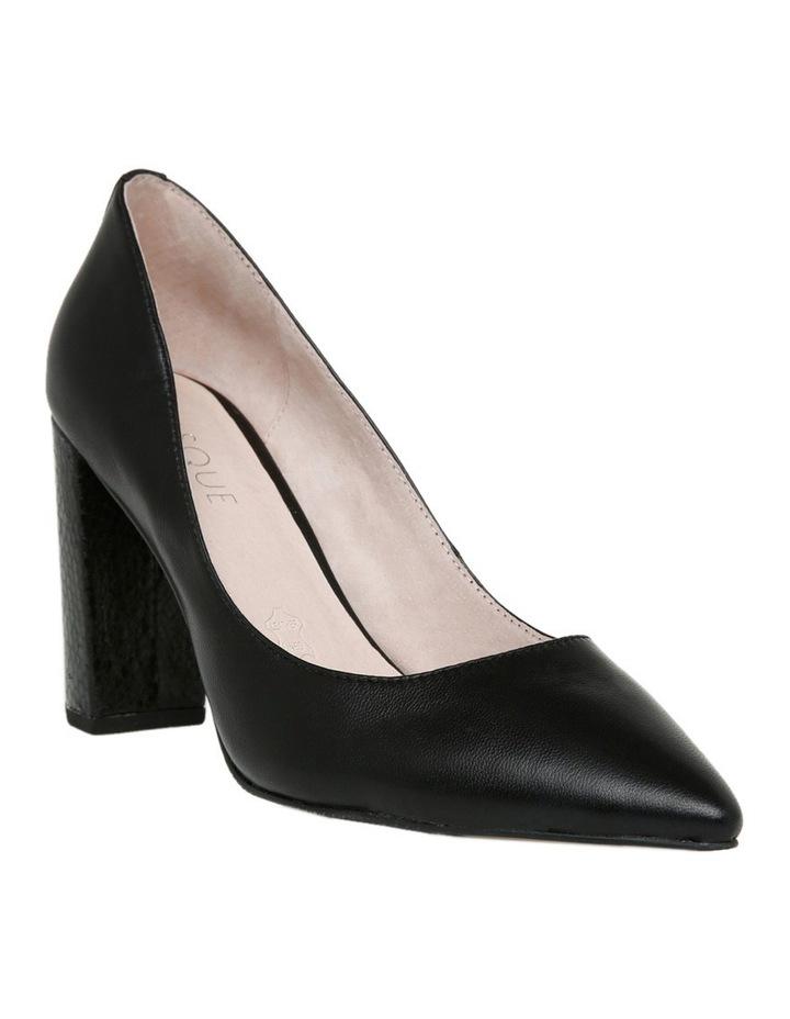 Nicolette Black Leather Heel image 2