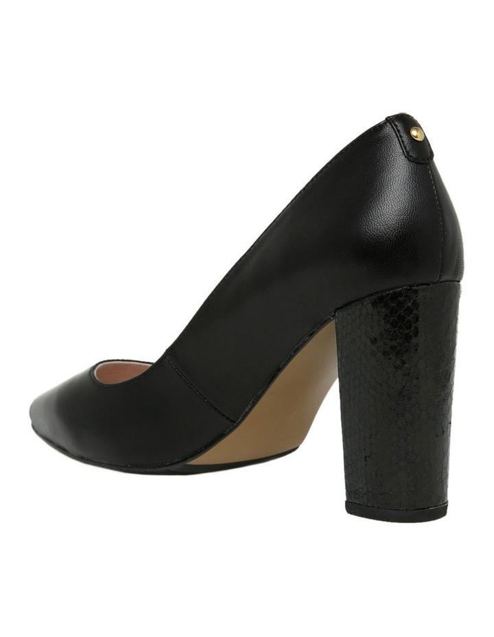 Nicolette Black Leather Heel image 3