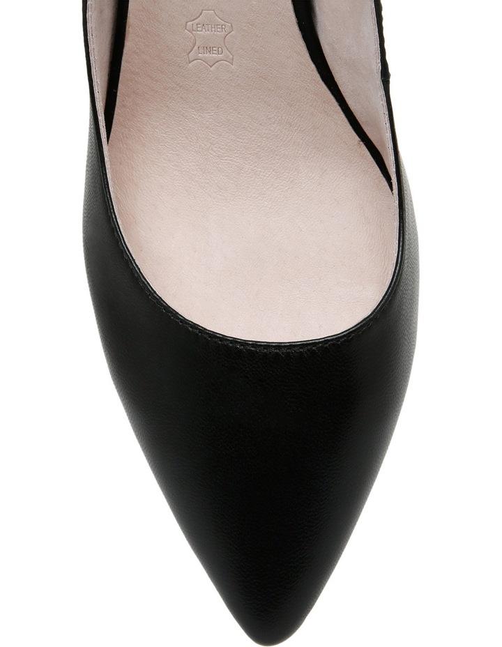 Nicolette Black Leather Heel image 4