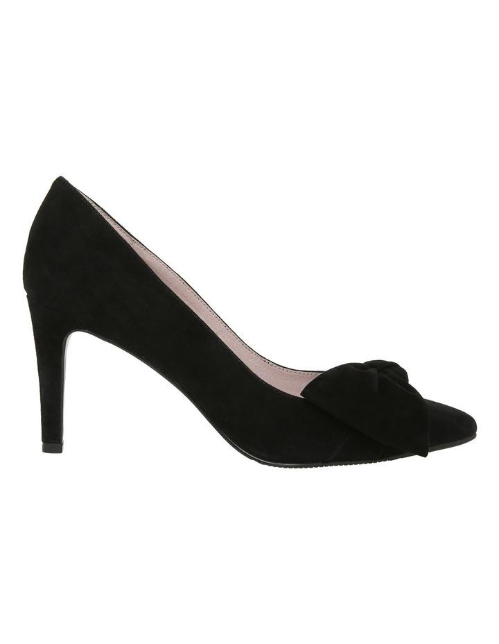 Bow Black Suede Heel image 1