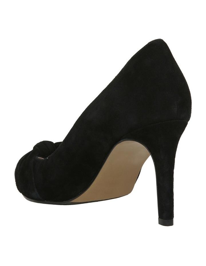 Bow Black Suede Heel image 2