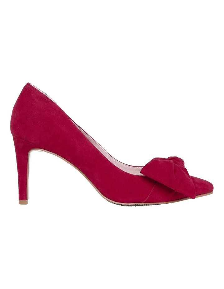 Bow Red Suede Pump image 1