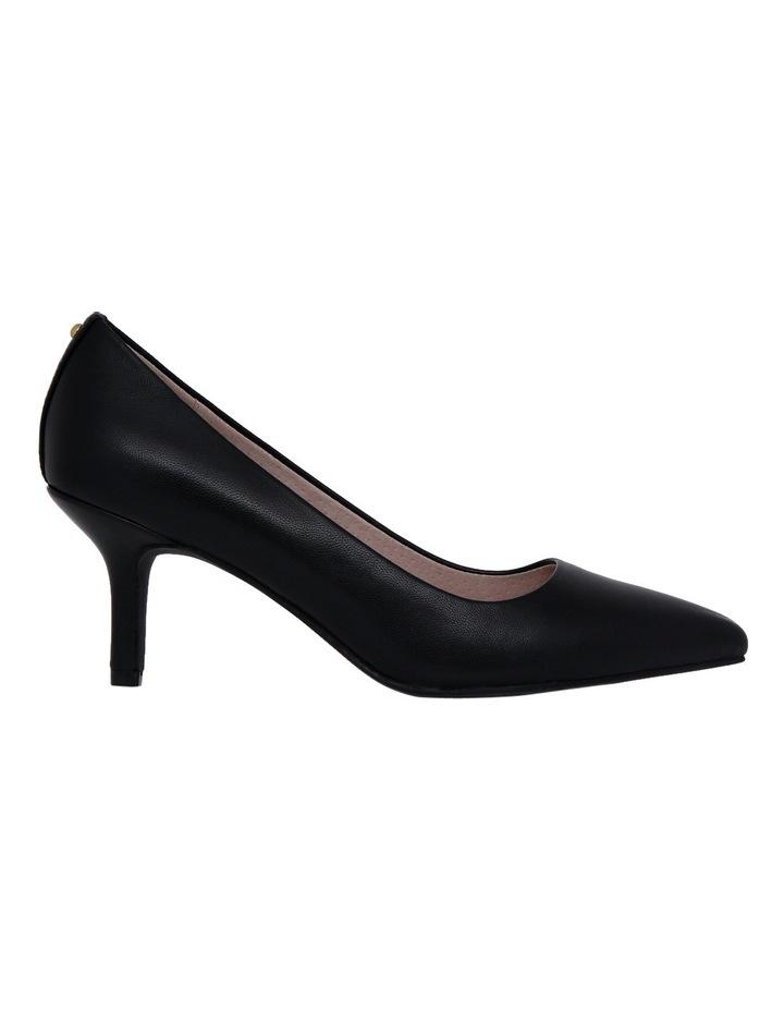 Elizabeth Black Leather Heel image 1