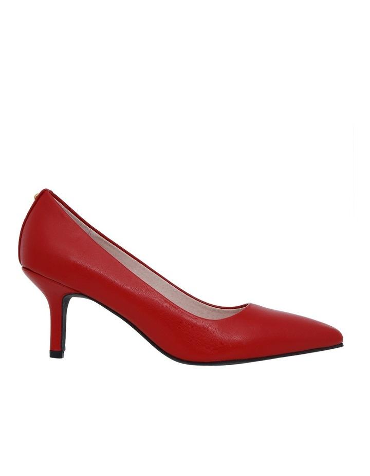 Elizabeth Red Leather Heel image 1