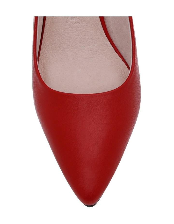 Elizabeth Red Leather Heel image 3