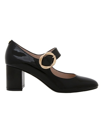 409b0384a6 Basque Florence Black Patent Leather Heel