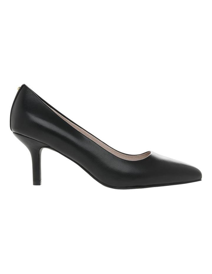 Elizabeth Wide Fit Black Leather Heel image 1