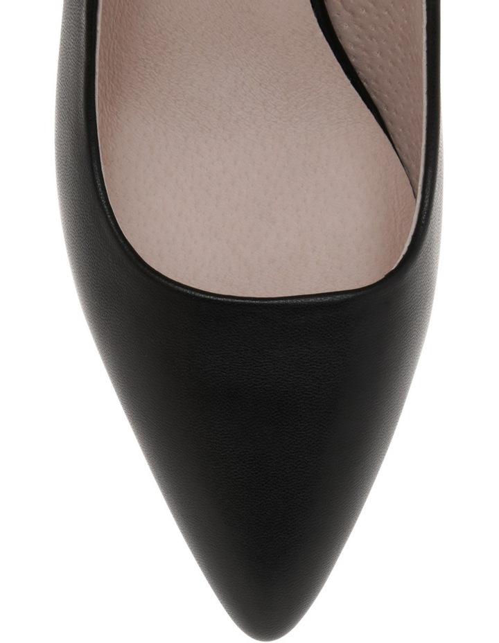 Elizabeth Wide Fit Black Leather Heel image 3