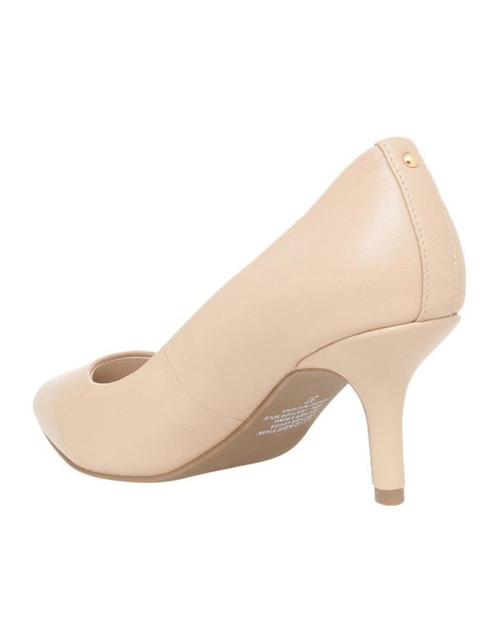 Elizabeth Wide Fit Nude Leather Heel image 2