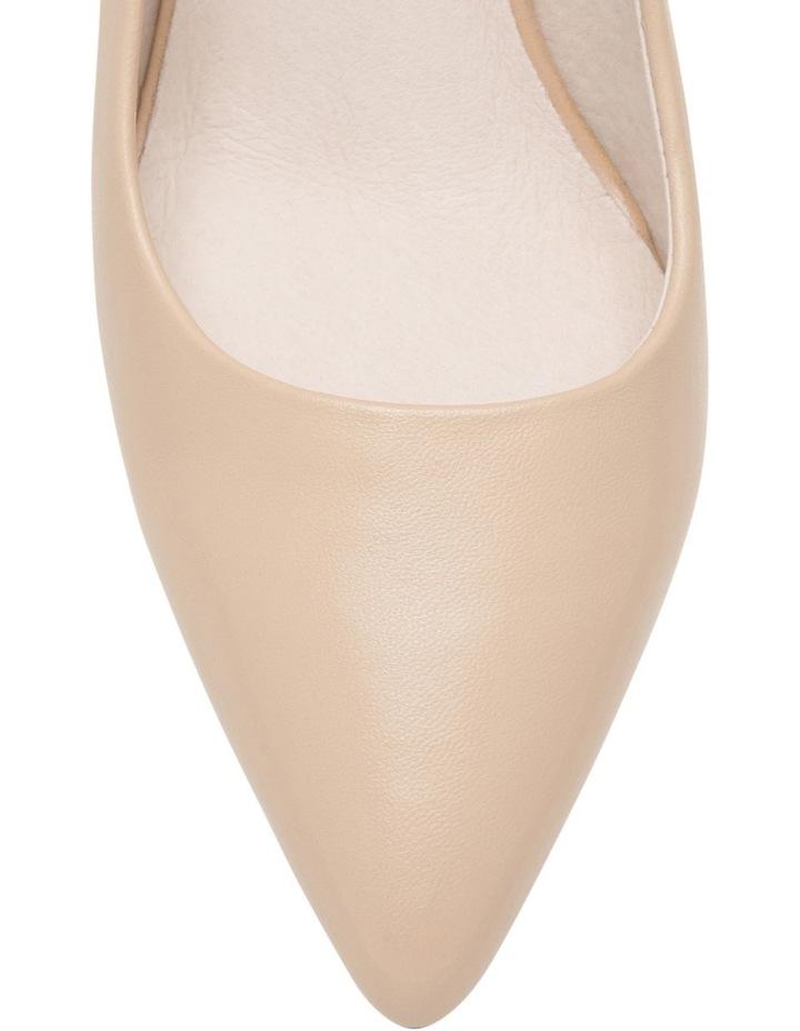 Elizabeth Wide Fit Nude Leather Heel image 3