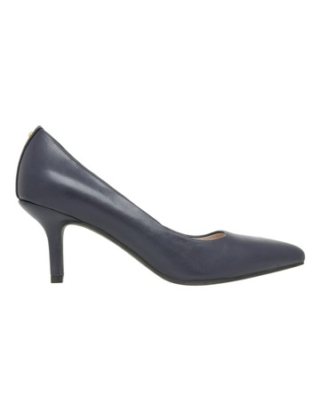 Basque Elizabeth Wide Fit Navy Leather Heel 499238e8c624