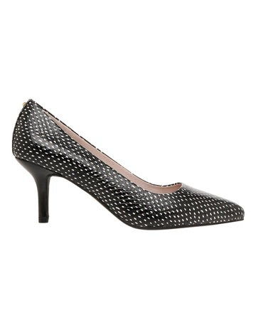 BasqueElizabeth Black and White Spot Leather Heel. Basque Elizabeth Black  and White Spot Leather Heel 59c2068ce