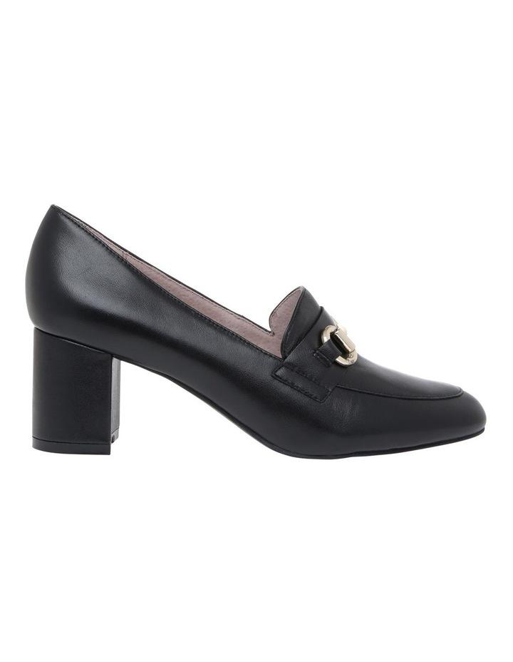 Gretel1 Black Leather Heel image 1