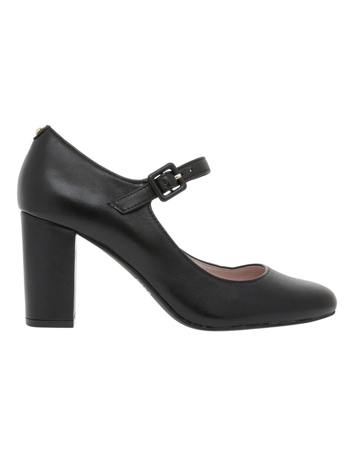 Sandrine Black Leather Heel image 1