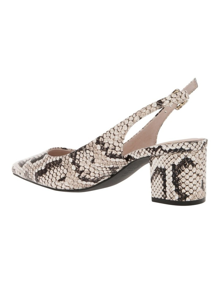 Charlotte Snake Print Leather Heel image 2