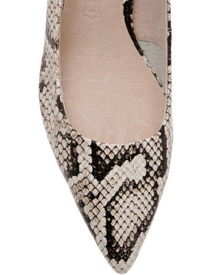 Charlotte Snake Print Leather Heel image 3