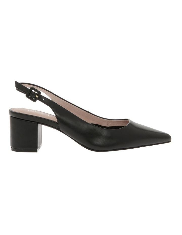 Charlotte Black Leather Heel image 1