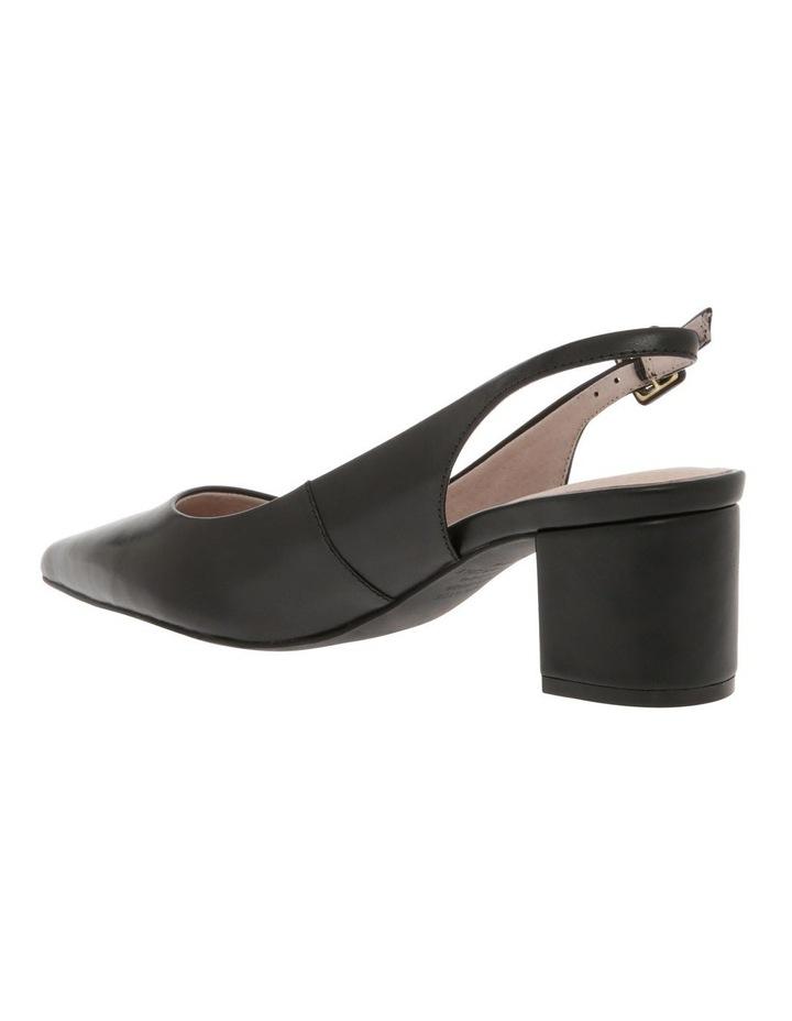 Charlotte Black Leather Heel image 2