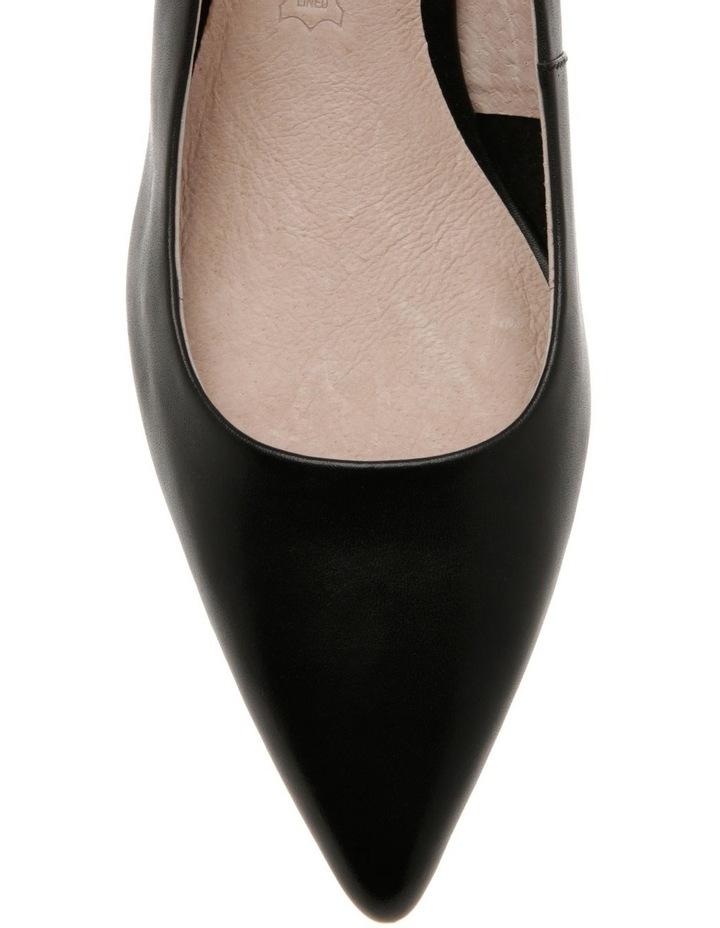 Charlotte Black Leather Heel image 3