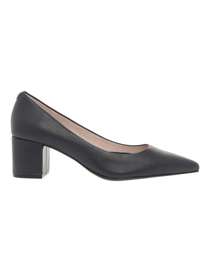 Charlene Navy Leather Heel image 1