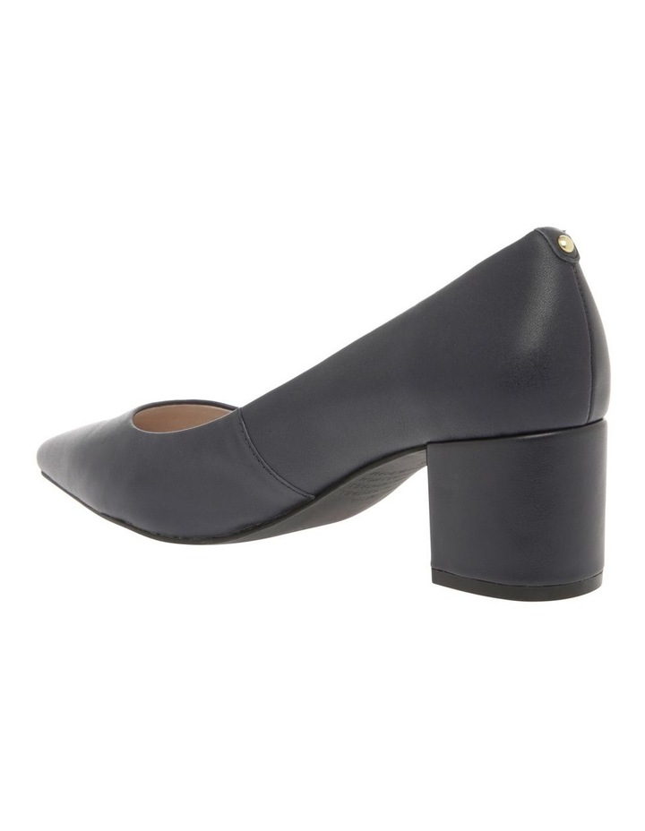 Charlene Navy Leather Heel image 2