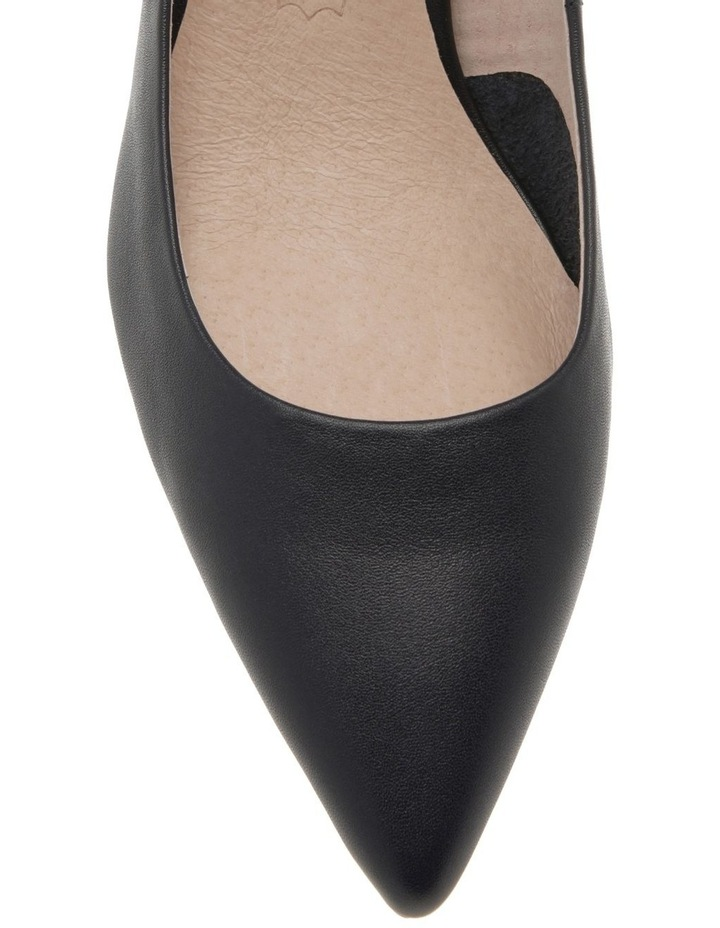 Charlene Navy Leather Heel image 3